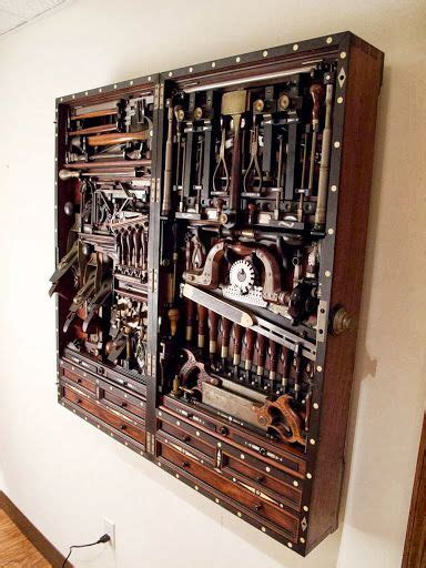 henry studley boite  outils en bois outillage ancien
