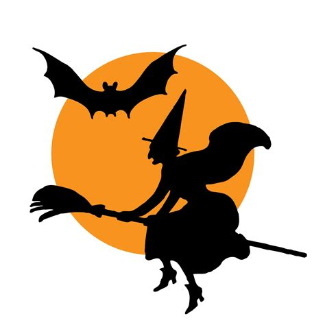 halloween witch broomstick clipart  stock photo
