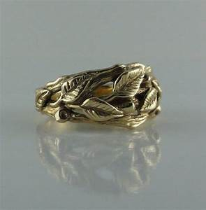 leaf engagement ring leaf and twig wedding band branch leaf With leaf wedding ring