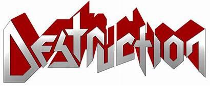 Destruction Band Transparent Metal Logos Thrash Interview