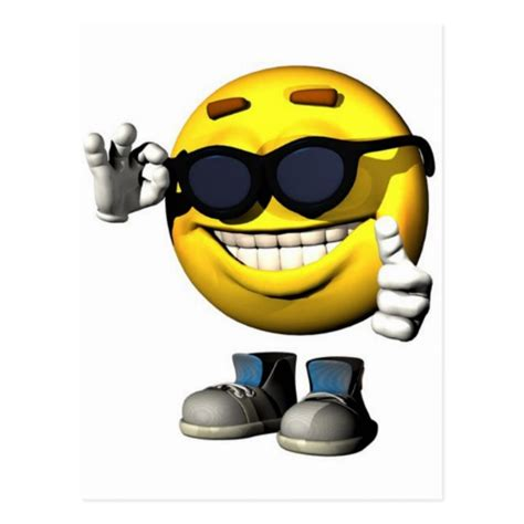 Cool Smiley Face Postcard Zazzlecom