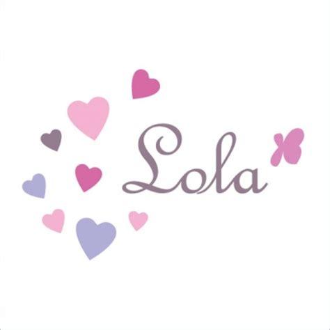 Sticker Prénom Lola Coeurs  Lili Pouce Stickers