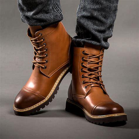Boots For Men Fashion Tsaa Heel
