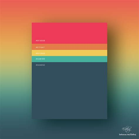 palette of colors 8 beautiful flat color palettes for your next design project