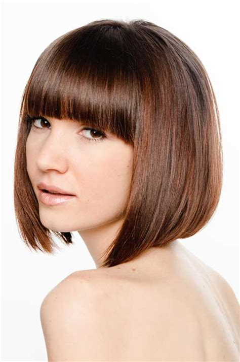 With Hairstyles by 20 Angled Bobs With Bangs Bob Hairstyles 2018