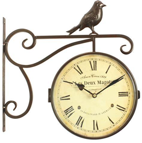 horloge de gare ancienne les deux magots 24cm