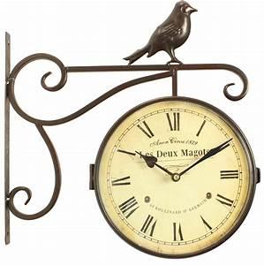 Horloge De Gare : horloge de gare ancienne double face les deux magots 24cm ~ Teatrodelosmanantiales.com Idées de Décoration