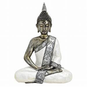 Buddha Figur 150 Cm : wurm thai buddha figur sitzend 41x30x15 cm wei silber ~ A.2002-acura-tl-radio.info Haus und Dekorationen