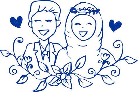 template janji nikah kartun muslim vector coreldraw cdr