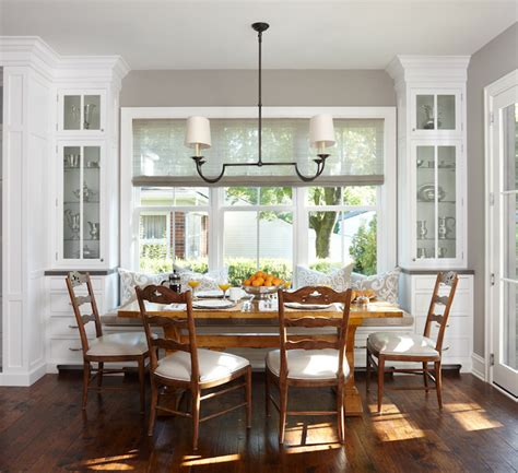 built in banquette seating window seat banquette country kitchen mb wilson interior design