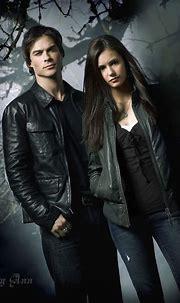 Damon Salvatore and Elena Gilbert from The Vampire Diaries ...