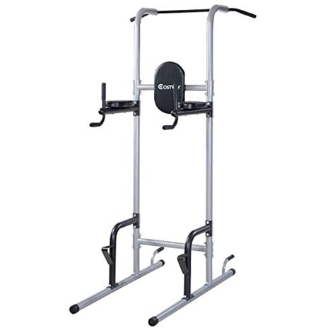 pull up rack goplus chin up power tower rack pull up stand bar leg
