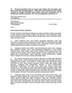 tag contoh surat aduan salah laku penjawat awam