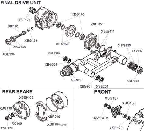 honda trxex parts diagram