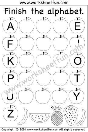 missing letters  images letter worksheets cursive