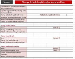 itil change management toolkit rfc With it change management process template