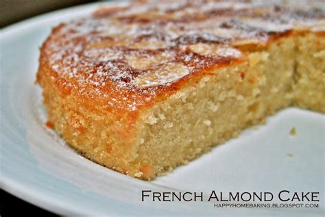 cake recipe happy home baking french almond cake