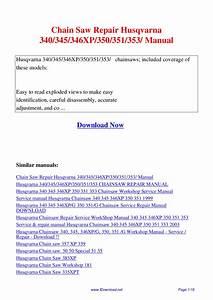 Chain Saw Repair Husqvarna 340 345 346xp 350 351 353 Manual By Giler Kong