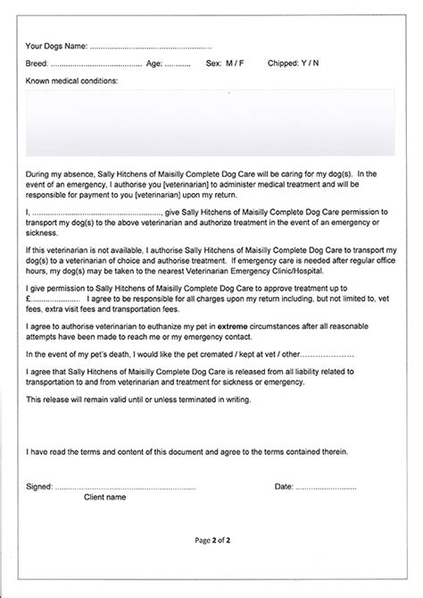 maisilly complete dog care forms