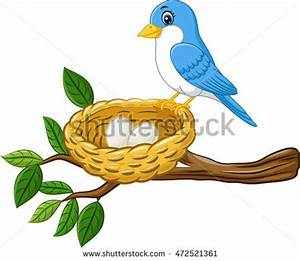 Bird's Nest clipart cute egg - Pencil and in color bird's ...