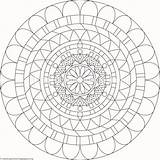 Mandala Coloring Pages Getcoloringpages Clip sketch template