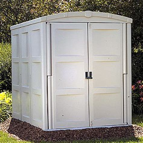 Suncast Vertical Shed Assembly by Prefabricated Vinyl Outdoor Storage Building Comparisons
