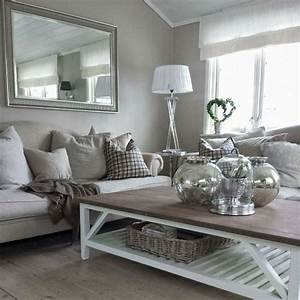 Gray And White Living Room Decoration For House