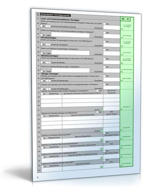formulare zur erbschaftssteuererklaerung formulare zum