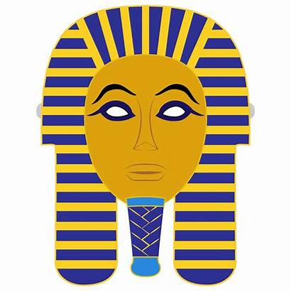 Egyptian Mask Death Template Mummy Paper Clipart