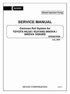 Toyota Hilux Kijyang Innova 1kd 2kd