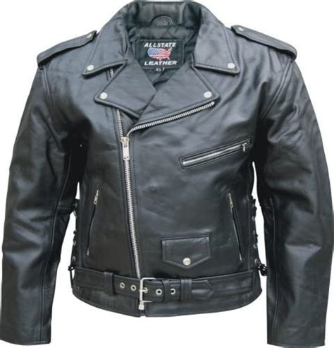 classic leather motorcycle jackets allstate mens classic black leather motorcycle jacket side