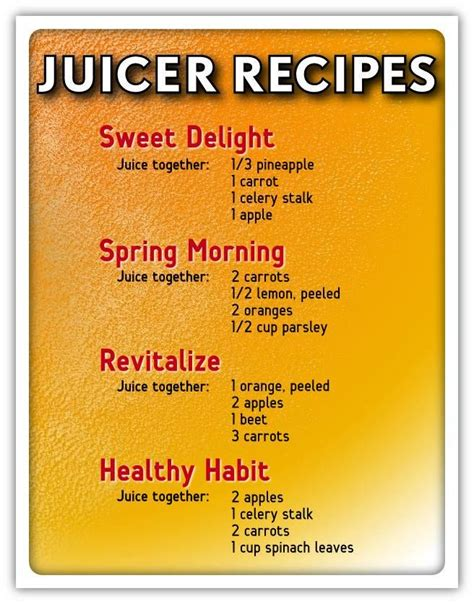 recipes juicing juice juicer beginners easy health juices recipe healthy plus chart vegetables detox beginner smoothies breville fountain too diet