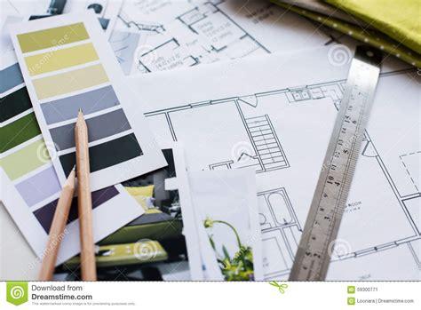interior fabrics okc plan interior designers working table stock photo image 59300771