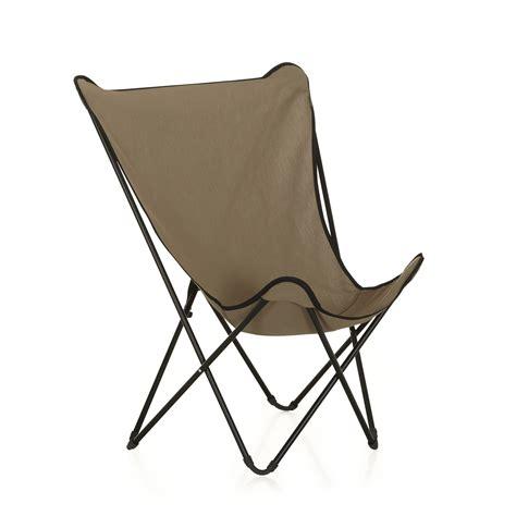 chaise de pecheur pliable fauteuil de repos pliant beige lafuma beige maxi pop up