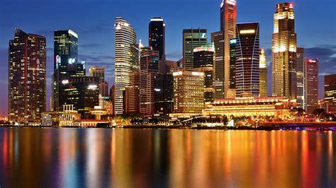 singapore   night desktop wallpaper hd  mobile