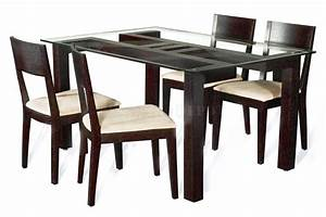 Wooden dining table designs with glass top google search for Dining tables design