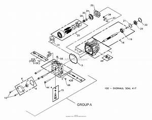 Bunton  Bobcat  Ryan 642226 Bzt 2200d W  61 U0026quot  Side Discharge Parts Diagram For Hydrogear Pump