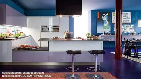 cocinas  barra cocina  reposteros decoracion fotos