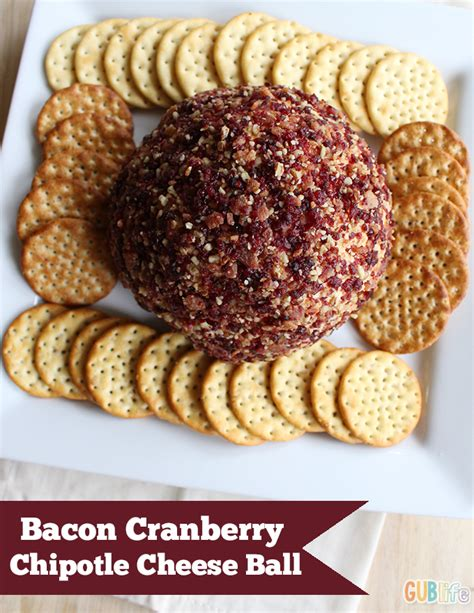 holiday recipe bacon cranberry chipotle cheese ball gublife