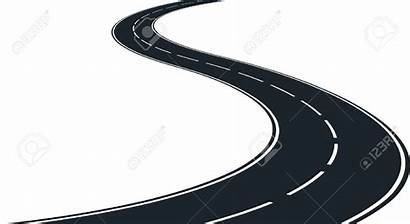Road Winding Clip Clipart Highway Vector Silhouette