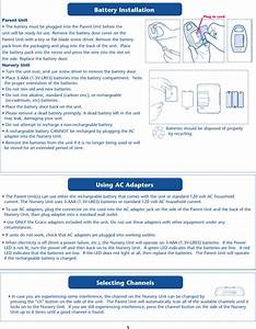 Graco Children S Pd193480 Baby Monitor User Manual Pd193480