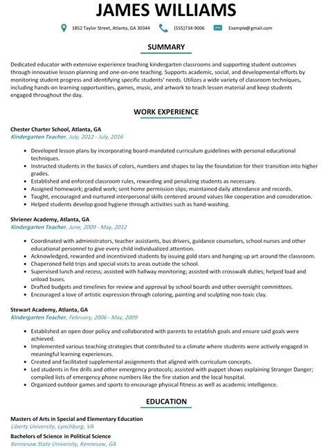 kindergarten resume lifiermountain org