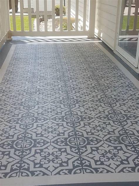 DIY Stencil Concrete Patio Rug   Crafty Morning