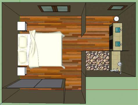 chambre parentale avec salle de bain et dressing avec sketchup suite parentale un reve une