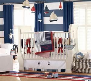 Rideaux Chambre Bébé Garçon : chambre b b gar on de style nautique en 23 belles photos ~ Teatrodelosmanantiales.com Idées de Décoration
