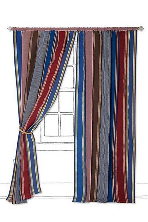 vintage canvas stripe curtain i anthropologie