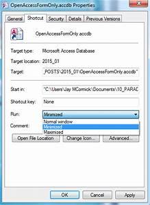 Open Your Ms Access App  Like A Custom Software App