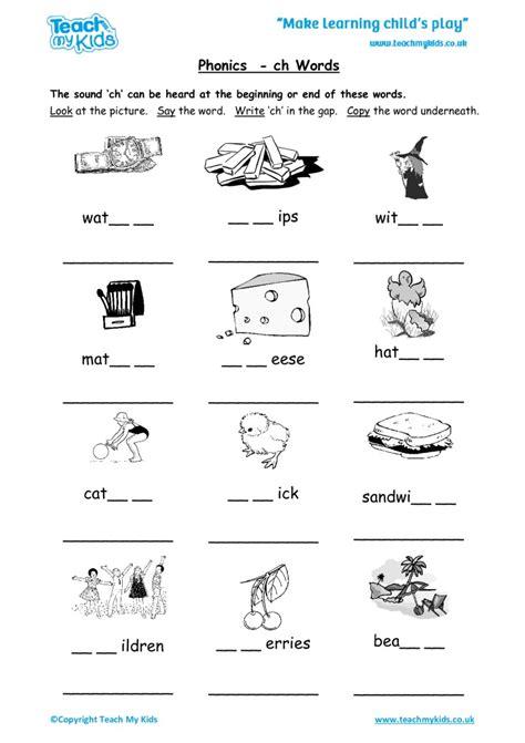 52 boredom busters for kids.epub. Phonics - ch Words - TMK Education