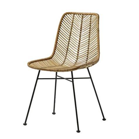 fauteuil de bureau en bois chaise design en rotin tressé bloomingville sur cdc design