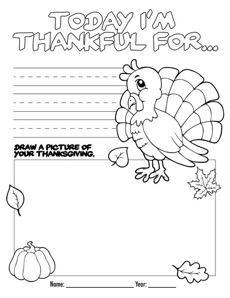 thanksgiving coloring book free printable how to nest for less